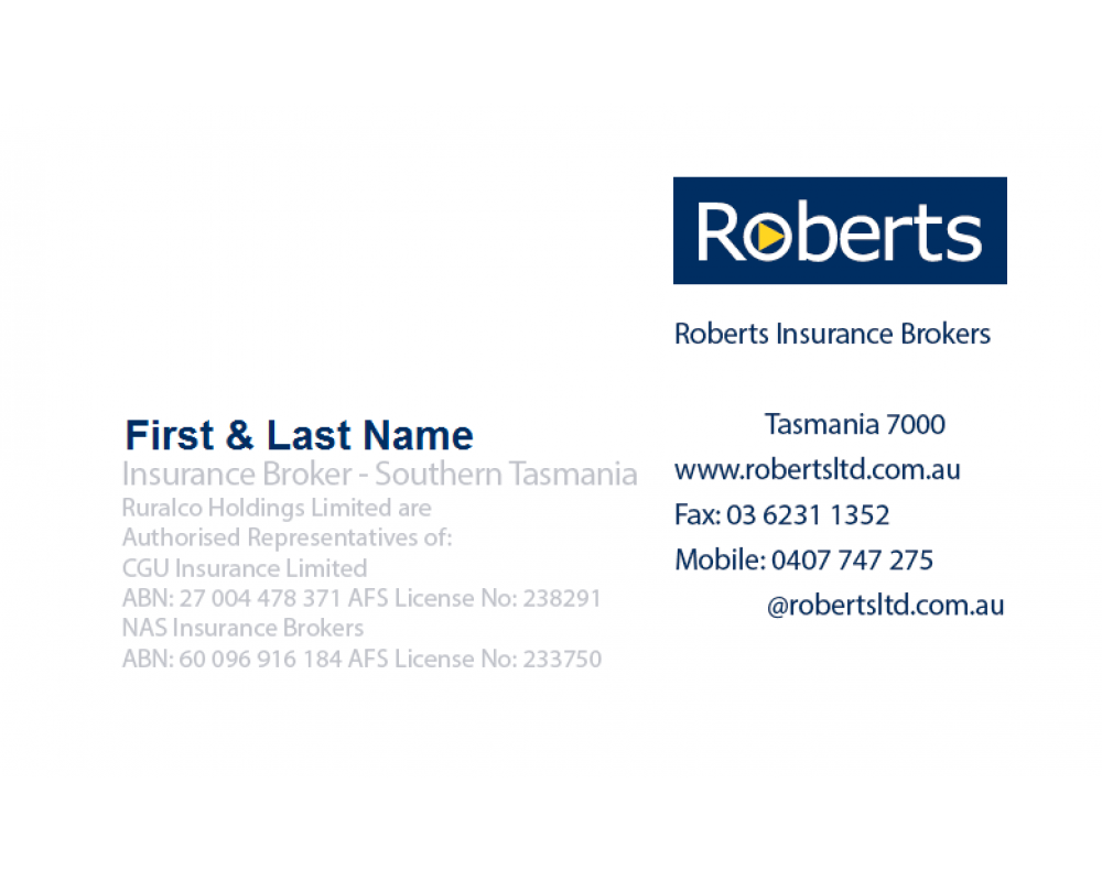 Roberts insurance business card reheart Image collections