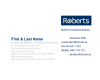 Roberts Insurance Business Card